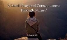 'A Small Prayer of Consciousness Through Nature'