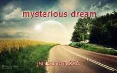 mysterious dream