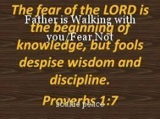 Father is Walking with you/Fear Not