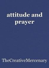 attitude and prayer