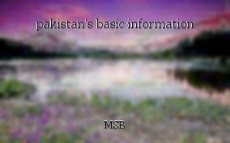 pakistan's basic information