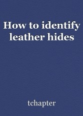 How to identify leather hides