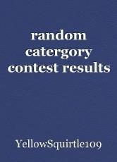 random catergory contest results