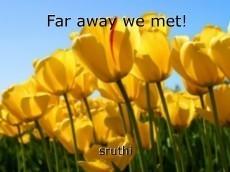 Far away we met!