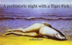 A prehistoric night with a Tiger Fish