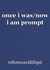 once i was/now i am prompt