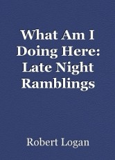 What Am I Doing Here: Late Night Ramblings