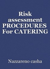 Risk assessment PROCEDURES  For CATERING PERSONNEL