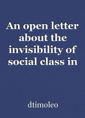 An open letter about the invisibility of social class in public schools