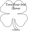 Torn Four-leaf Clover