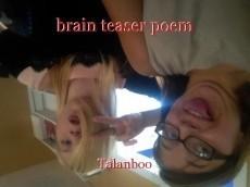 brain teaser poem