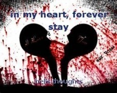 in my heart, forever stay