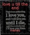 love u till the end