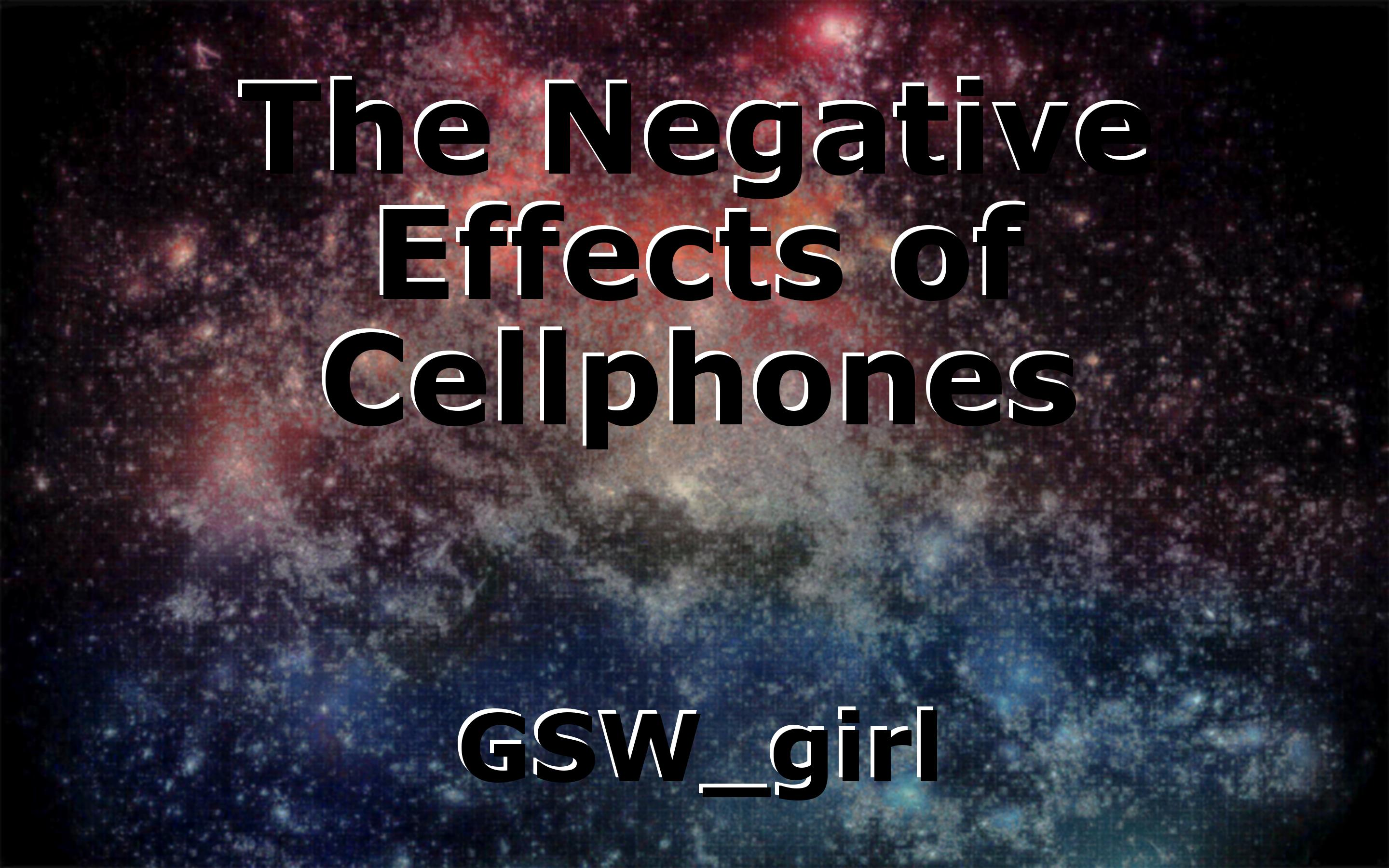 essay on negative effects of cell phones
