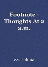 Footnote - Thoughts At 2 a.m.