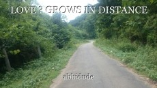 LOVE ? GROWS IN DISTANCE