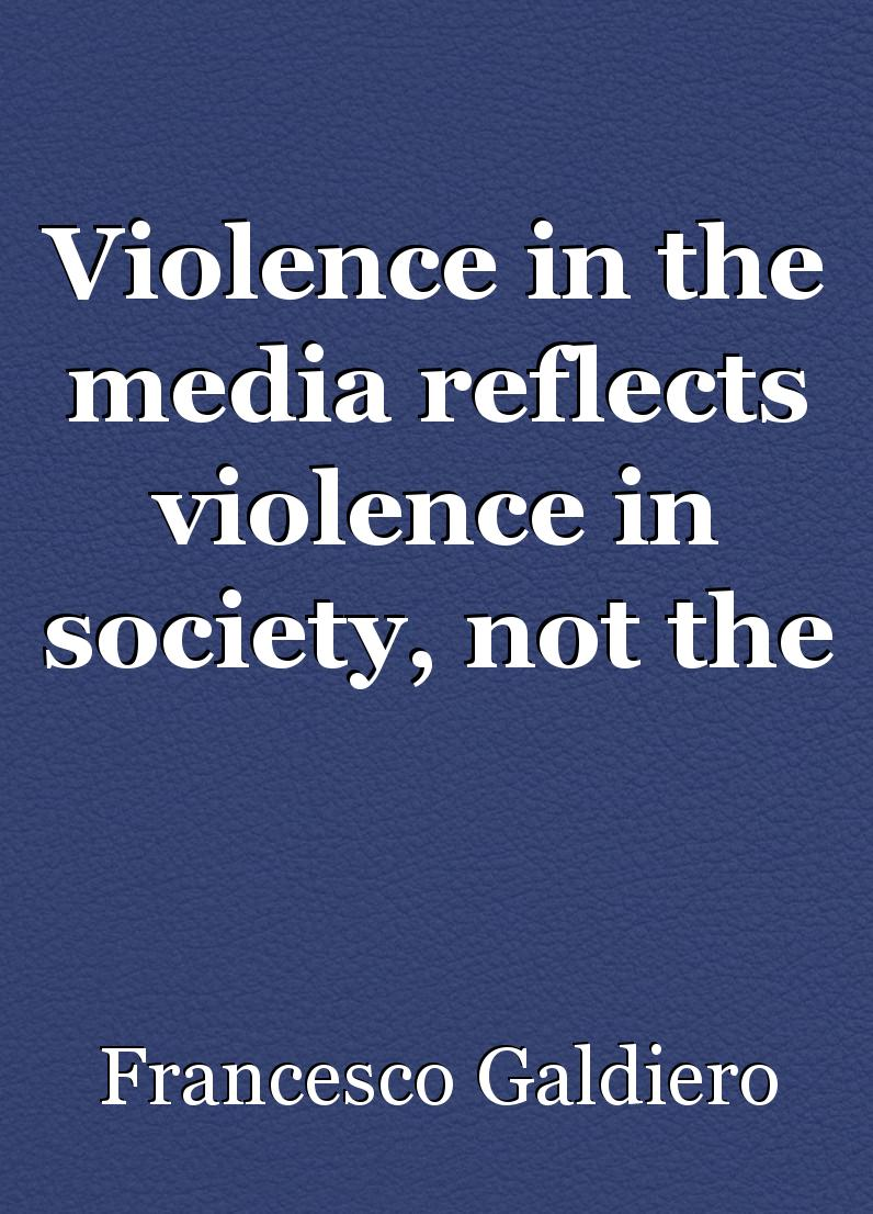 Violence in society essay