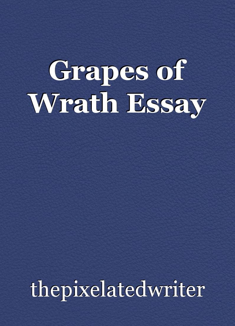 essay on the grapes of wrath  essay on the grapes of wrath