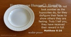Harness your Hunger; Humility