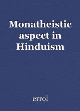 Monatheistic aspect in Hinduism