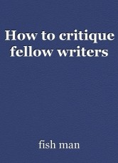 How to critique fellow writers
