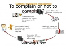 To complain or not to complain?