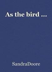 As the bird ...