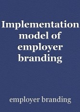 Implementation model of employer branding