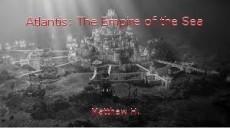 Atlantis: The Empire of the Sea