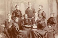 SHE AND THE 1890S BOOK CLUB.