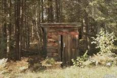 THE OUTHOUSE ON THE EDGE.