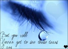 Only Let The Tears Fall On The Inside
