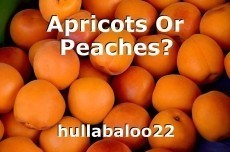 Apricots Or Peaches?