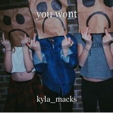 you wont