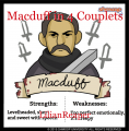 Macduff in 4 Couplets