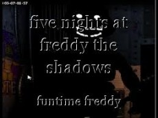 five nights at freddy the shadows
