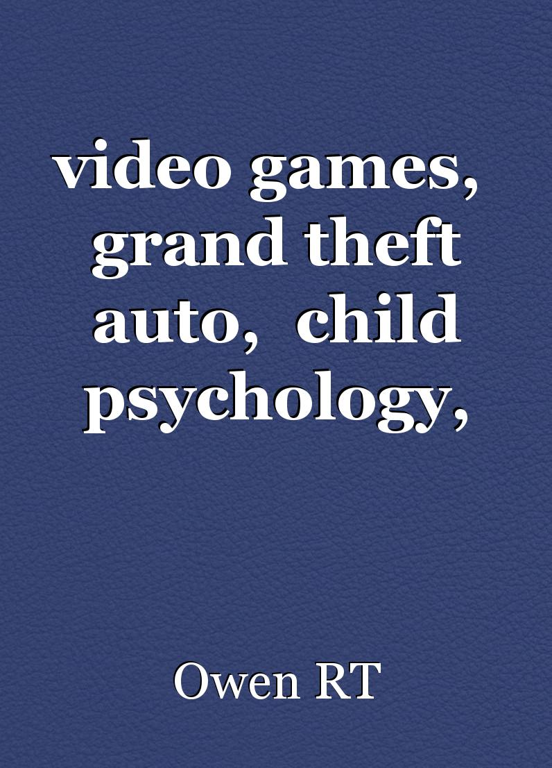 effects of video games on peoples behavior psychology essay As compared to television, video games demand active participation of the player and therefore, can have far reaching effects on child behavior and psychology as video games are more engaging in nature, children usually actively participate in these games and also identify themselves with the aggressor.