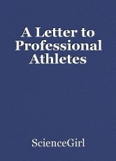 A Letter to Professional Athletes