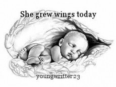 She grew wings today