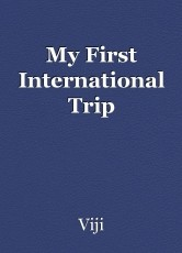 My First International Trip