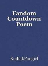 Fandom Countdown Poem
