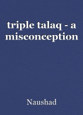 triple talaq - a misconception
