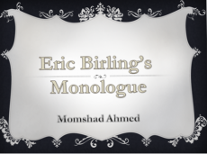 The Inspector Calls: Dramatic Monologue of Eric Birling