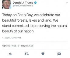 Our Earth Day With Trump