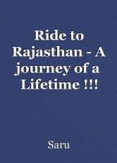 Ride to Rajasthan - A journey of a Lifetime !!!