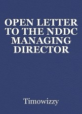 OPEN LETTER TO THE NDDC MANAGING DIRECTOR