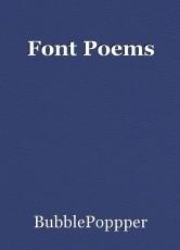 Font Poems