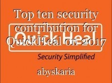 Top ten security contribution for QuickHeal on 2017