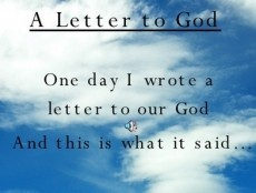 A Personal Letter To God