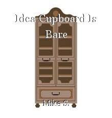 Idea Cupboard Is Bare